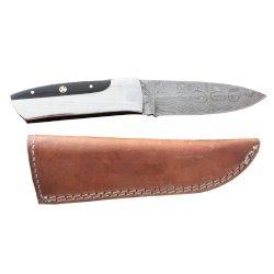 "Custom Made Damascus Steel Hunting Knife New,With Buffalo Horn 10.5"" Pt-287"