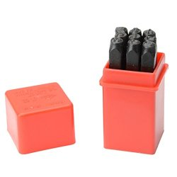 Great Value Leather Tools 9 Types Different 5Mm Steel Diy Leather Punch Tools Number Stamps