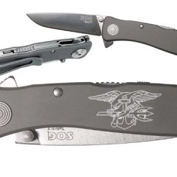Navy Seals Us Naval Custom Engraved Sog Twitch Ii Twi-8 Assisted Folding Pocket Knife By Ndz Performance