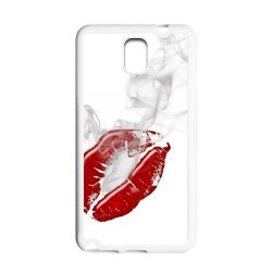 Diy Personalized New Custom Cute Cartoon Sexy Red Kiss Lips Lipstick Pattern Design Cell Phone Case Cover For Samsung Galaxy Note 3 Case Hard Plastic Mobile Phone Case Protective Shell
