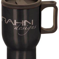 Personalized 16 Oz Black Stainless Steel Travel Mug