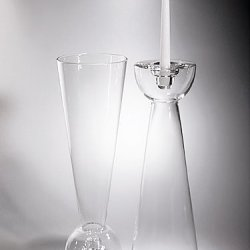 """Clear Glass Vase 16"""" Tall"""