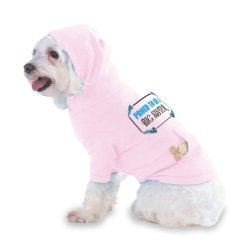 Proud To Be A Big Sister Hooded (Hoody) T-Shirt With Pocket For Your Dog Or Cat Size Small Lt Pink