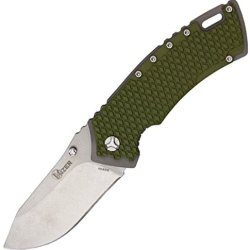 Kizer Cutlery Titanium Folding Knife,3.5In,Cpm-S35Vn Stainless Blade,Textured Green 4411 Green