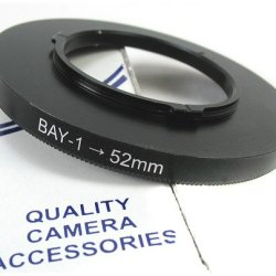 Tlr Bay 1 To 52Mm Adapter Ring For Rollei, Rolleiflex, Yashica Mat, Yashica Mat 124G