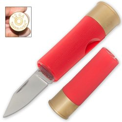 Shotgun Shell Pocket Knife 2.5 Inches (Red)