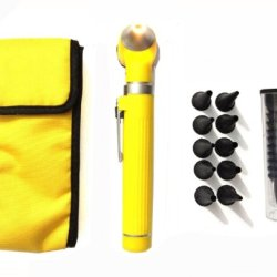 Zzzrt Pro Physician 2.5V Halogen Ligh Fiber Optic Otoscope Mini Pocket Medical Ent Diagnostic Set Yellow + Free Protective Cover