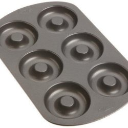 Wilton Nonstick 6-Cavity Cake Donut Baking Pan New