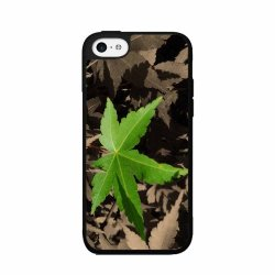 Green Leaf - Phone Case Back Cover (Iphone 4/4S - Tpu Rubber Silicone)