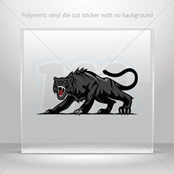 Decals Decal Black Panther Decoration Motorbike Bicycle Vehicle Atv Car Lapto (5 X 2.4 In)