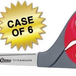 "Clauss Titanium Bonded Bent Handle Shears, 9"", Case Of 6"