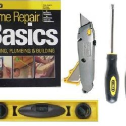 Stanley Home Repair Kit Screwdrivers Utility Knife Level Guide 90-888L