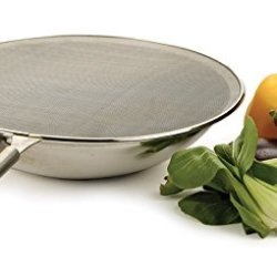 """Rsvp 15"""" Splatter Screen Bacon Grease Fry Guard/Shield 18/8 Stainless Steel New"""