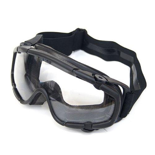 OAKタイプ SI バリスティック ゴーグル スモーク・クリアグラスセット ブラック