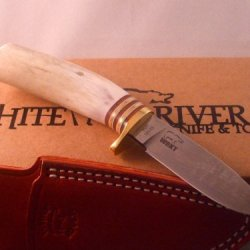 White River Knife & Tool Drop Point Knife Antler Handle Wrdp-Ant