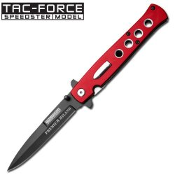 "5"" Closed, Tactical Assited Foding Knife. Red"