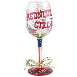 Santa Barbara Design Studio Gls11-5526D Lolita Love My Wine Hand Painted Glass, Redneck Girl