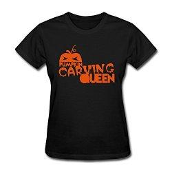 Renhe Women'S Design Your Own Halloween Pumpkin Slim Fit Vintage T-Shirts