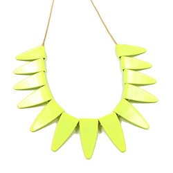 Moon Gazer Fashion Design All-Match Fresh Graceful Elegant Yellow Golden Chain Adjustable Extended Chain Triangle Petal Collar Statement Necklace Sweater Chain Jewelry For Women Lady - Yellow