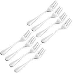 Taiwon Metal & Kitchenware 18/10 Stainless Steel Baguette Pattern Fish Fork Set Of 8