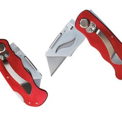 """Constructor"" Brand Folding Blade Utility Knife Lj-2140 High Quality Red"