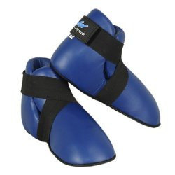 Playwell Deluxe Competition Vinyl Semi Contact Boots Blue - Small
