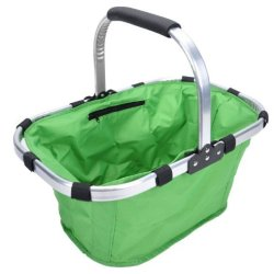 Promotion: Picnic Insulated Tote Basket, Collapsible & Foldable, Strong, Lightweight,Easy To Carry, Good For Fruits,Picnic Stuff,Clothes And Shopping(Green)