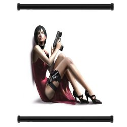 """Resident Evil 4 Game Fabric Wall Scroll Poster (31"""" X 32"""") Inches"""