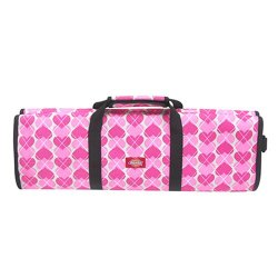 Dickies 12 Pocket Deluxe Knife Bag,  Pink Heart Argyle