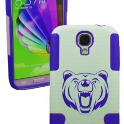 Plastic & Silicon Navy Blue/White Case For Galaxy S4 Bear Cover- Lifetime Warranty