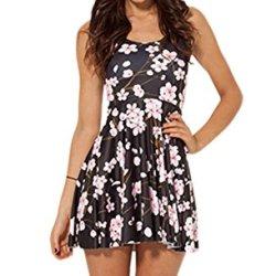 Galaxyfashion Women'S Plum Blossom Print Jumper Dress (Free Size, Multi)