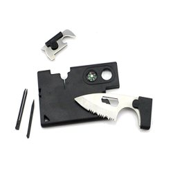 2Pcs Multifunction Portable Outdoor Knife Cardsharp Credit Card Knife Kommando Pocket Rescue Tool