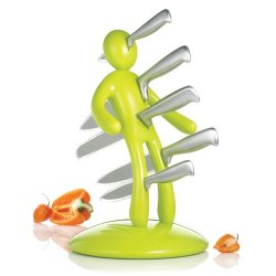 The Ex Kitchen Knife Set By Raffaele Iannello, Apple Green