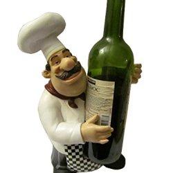 Jbj D64134 Chef Wine Bottle Holder, 14-Inch, Multicolored