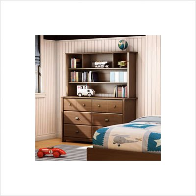 Image of Bundle-16 Willow Kids Dresser and Hutch Set (2 Pieces) Finish: Cherry (B0083GHEWK)