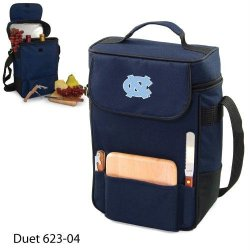 North Carolina Tar Heels - Unc Duet Insulated Wine And Cheese Tote - Navy W/Embroidery