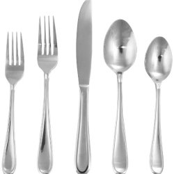 Hampton Forge Silversmiths Clark 5-Piece Flatware Set, 212Z0053Jb