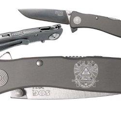 Mason Masonic Scottish Custom Engraved Sog Twitch Ii Twi-8 Assisted Folding Pocket Knife By Ndz Performance