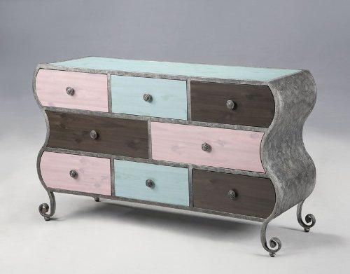 Image of Kids Drawer Dresser with Undulating Side Panels in Multicolored Finish (AZ00-46947x19898)