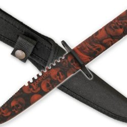 New Zombie Skull Camo Survival Knife Hg690Cm16