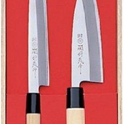 Japanese Sekitsubazou Work Kitchen Knife Set Of 2 By N/A