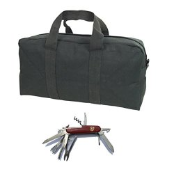 Fox Outdoor Tanker Tool Bag - With Free 14 Function Swiss Style Pocket Knife (Black)