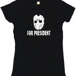 Jason Hockey Mask For President Women'S Tee Shirt Large-Black Babydoll