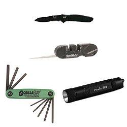 Benchmade 940Sbk Osborne Folding Knife With Knife Sharpener, Gorillagrip, And Keychain Led Flashlight