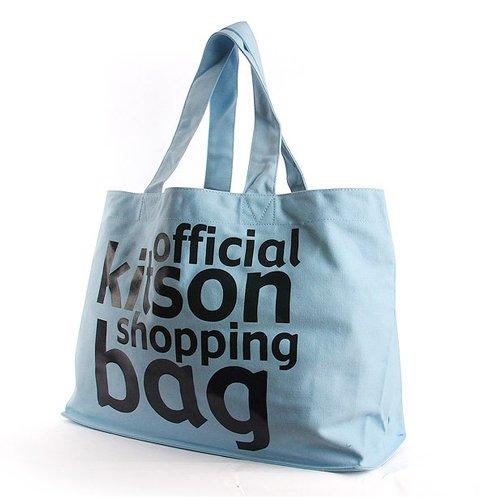 キットソン バッグ オフィシャル トート KHB0141 キャンバス ライトブルー