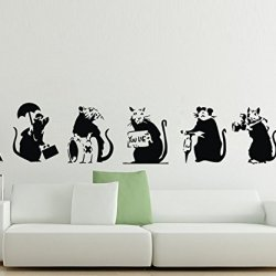 Little Cute Rat For Kitchen Bedroom Animal Decor For Nurdery Boys Wall Decals Sticker Art Decoration For Kid Bedroom Living Room Bathroom