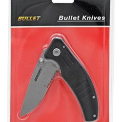 "Bullet 4-1/2"" Closed Folding Knife - Black"