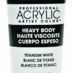 Liquitex Professional Heavy Body Acrylic Paint 2-Oz Tube, Titanium White
