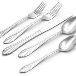 Hampton Forge Silversmiths Rose 45-Piece Flatware Set, 162Z0452Mh
