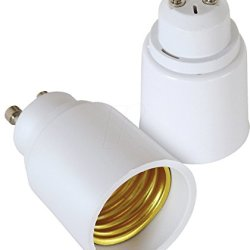 (Pack Of 2) Gu10 To E26/E27 Adapter - Gu10 Bayonet Base To E26/E27 Edison Screw Bulb Socket Adapter Converter